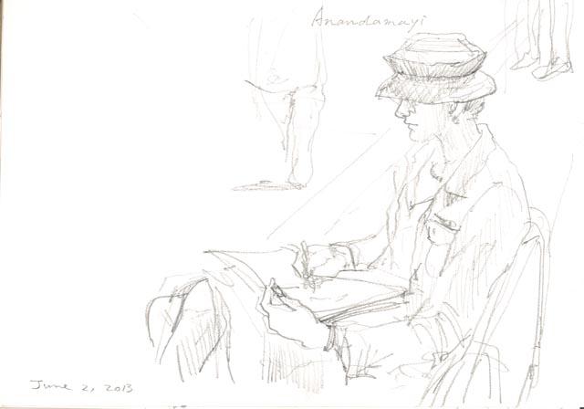 Sketching Anandamayi