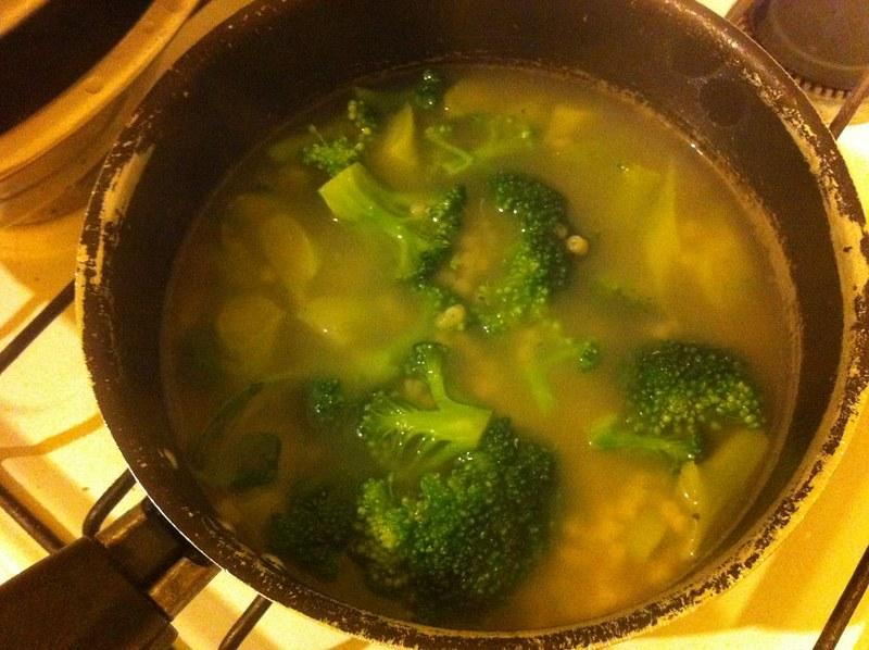 YQ made brocolli soup