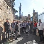 Making our way down the Mount of Olives