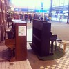 Open air public piano at the Nijmegen railway station. #urbanhabitat #publicspace #music