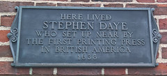 Photo of Stephen Daye grey plaque