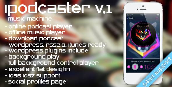 iPodcaster – music machine for iPhone