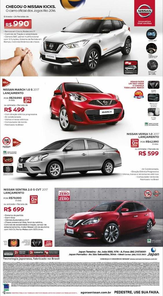 Confira as ofertas da Japan para outubro: Nissan Zero, Parcelas Zero