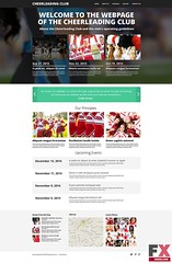 Preview Cheerleading Club Drupal Template TMT Tayler Ralf