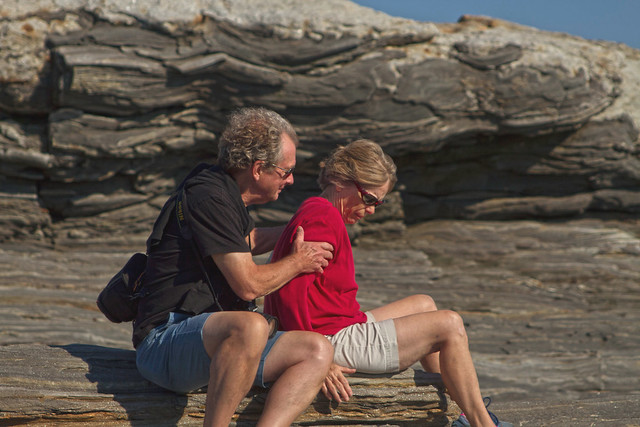 Mom and Dad at Pemaquid Point, Damariscotta ME (2016)