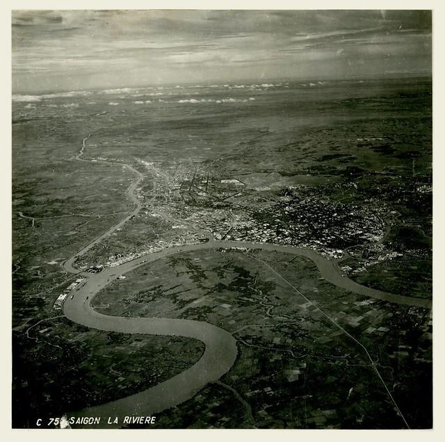 1950 Saigon Aerial View - Không ảnh Saigon