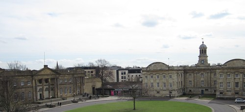 The view of the castle museum from Clifford's Tower, York