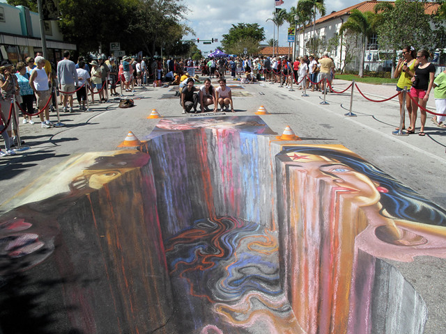'Hot Asphalt' 3d Streetpainting