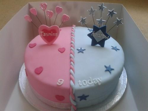 boy girl twins birthday cake twin birthday ideas shane birthday twins ...
