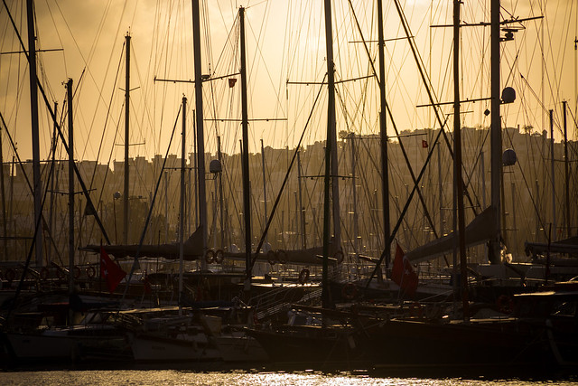 Masts in Bodrum Harbor - Turkey