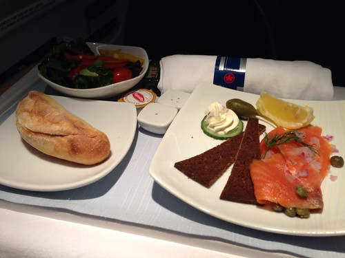 Air Canada Business Class Meal from Toronto YYZ to Munich MUC.