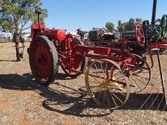 Moline Illinois kero? tractor c1910 at lhs Weir pump