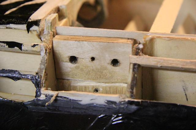 Port plywood block - test fit against inner brace