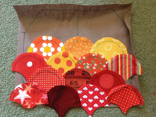 Patchwork pouch layout
