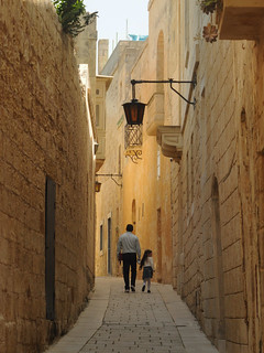 Father & daughter in Mdina