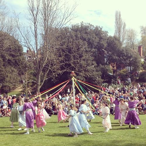 Maypole dancing