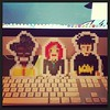 Coming soon to #pixelmelt new #ITCrowd #beadsprites can't wait to list them on #etsy check out #mauricemoss #jen and #roy #sprites