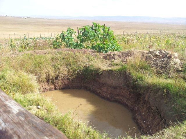 Fig 14. Surface water harvesting method at Mjikelweni