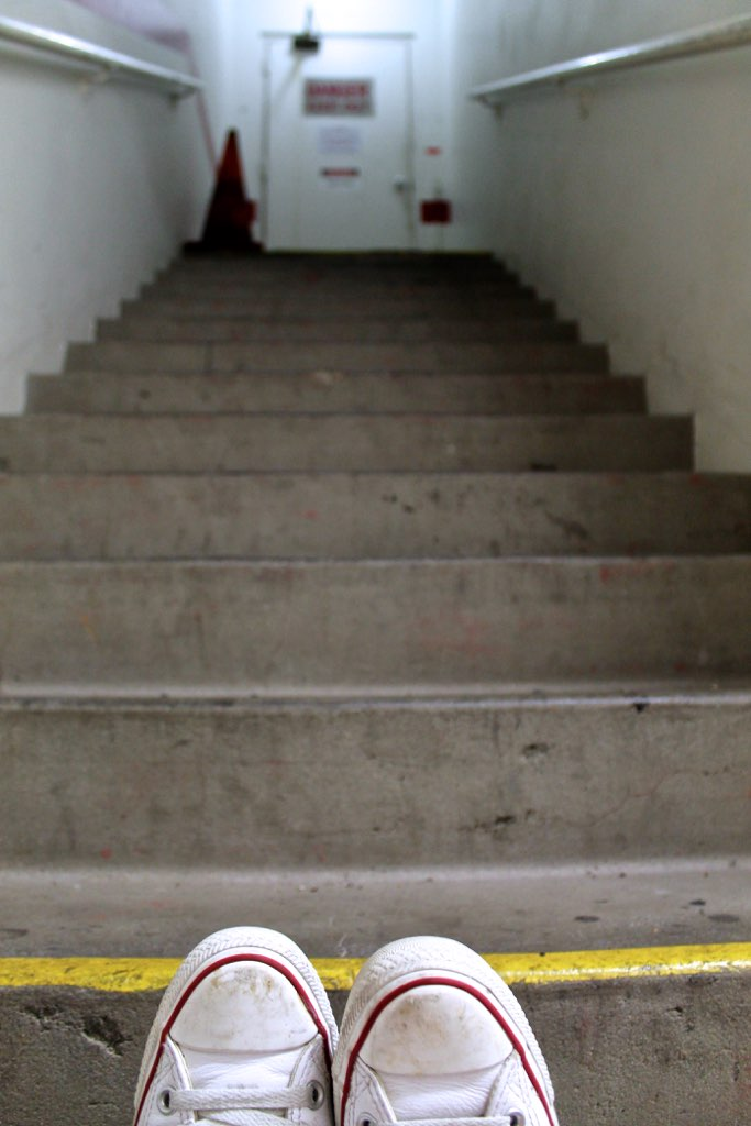 stairwell perception via The Caffeinated Closet