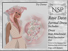 NSP Rose Deco Formal Dress with Hat - Pink Polka Dots