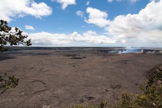 Halema'uma'u krater in de Kilauea caldera