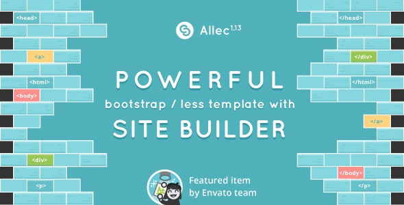 Allec v1.13 – Bootstrap/LESS Template with Page Builder