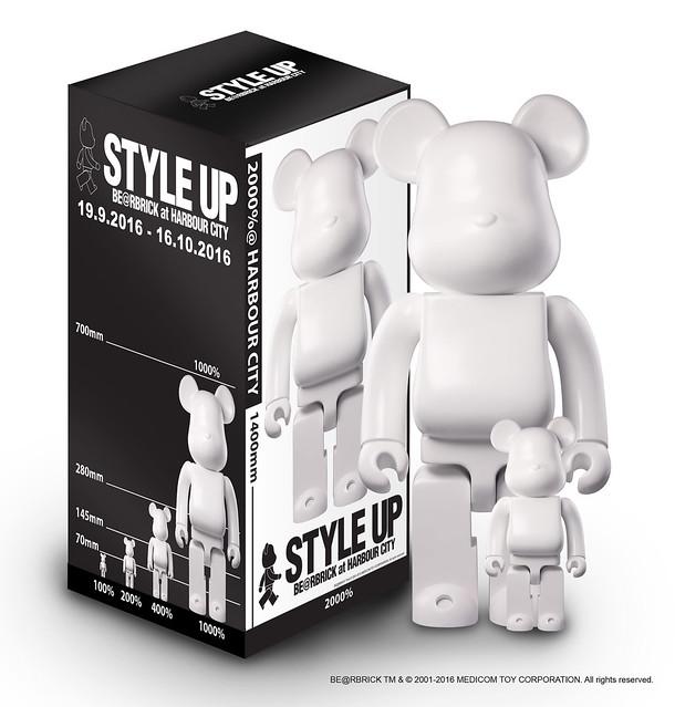 """香港最大型時尚慈善企劃 海港城 ╳ BE@RBRICK —""""Style Up""""時尚藝術展"""