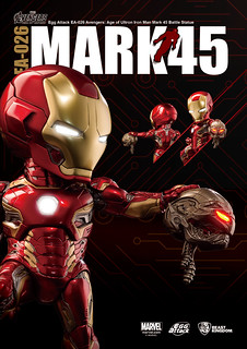 Egg Attack EA-026《復仇者聯盟 奧創紀元》鋼鐵人MK45戰鬥雕像 Avengers Age of Ultron MK45 Battle Statue