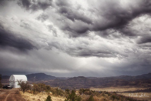 storm clouds telescope monet mcdonaldobservatory