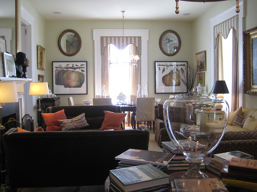living room at moss hollow farm