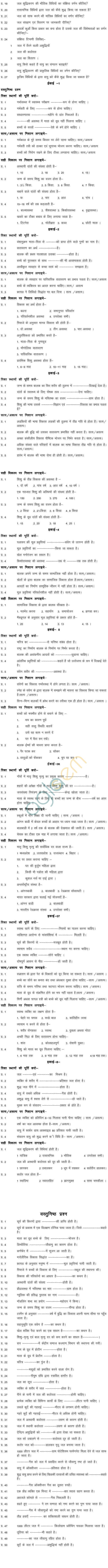 Chhattisgarh Board Class 11 Question Bank - Matritva Kala, Health & care