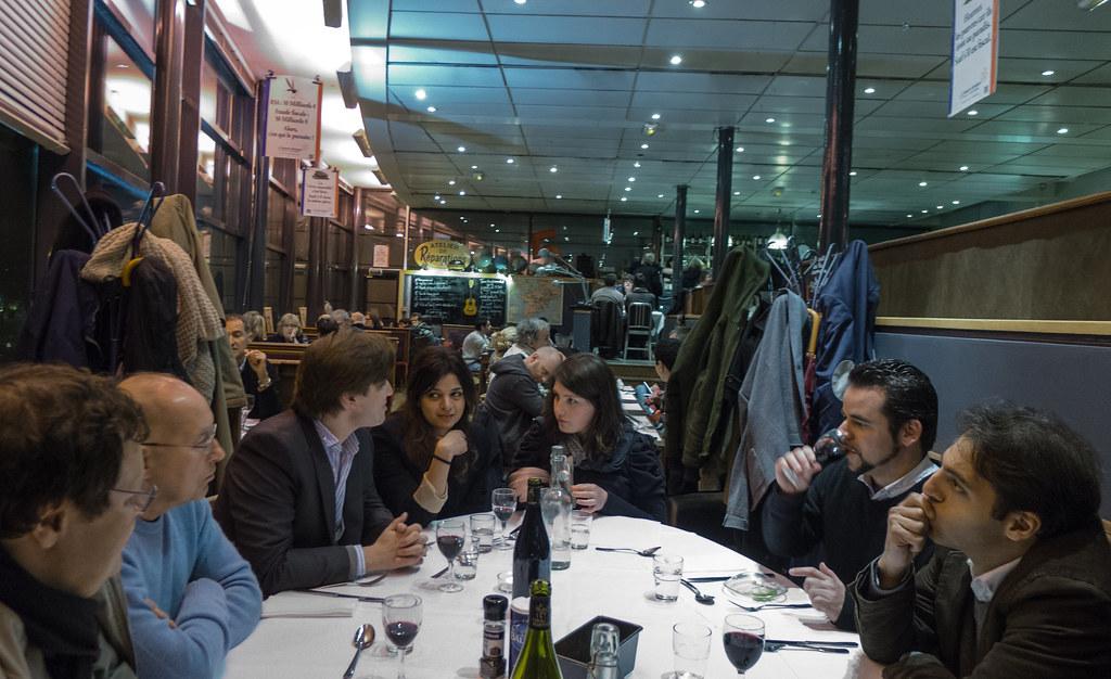 La Grande Table (pas de France Culture) au restaurant \