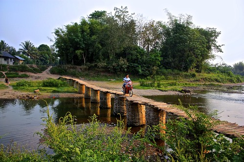 crossing the bamboo bridge