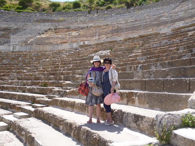 YQ and mom in Ephesus