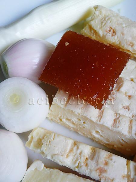 cebolleta, puerro, mantequilla