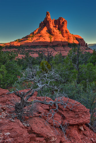 sunset arizona usa nature landscape rocks sedona vegetation geology bellrock yavapaitrail