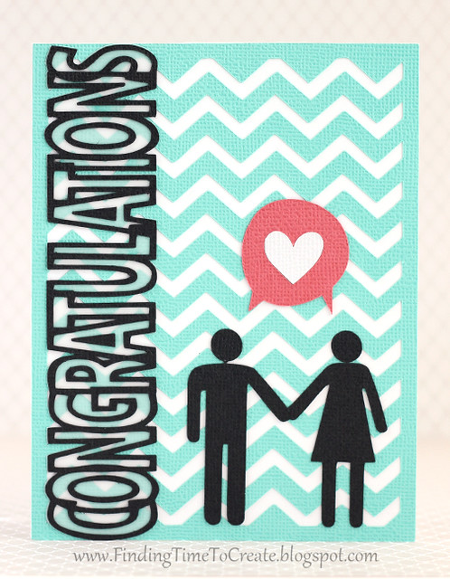 Congratulations couple card by Kelly Wayment