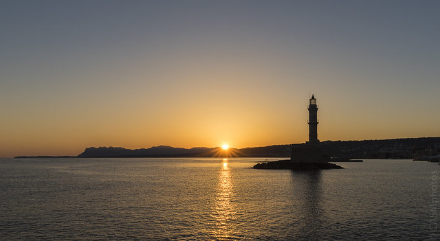 Sunrise - Chania old town port, Crete.
