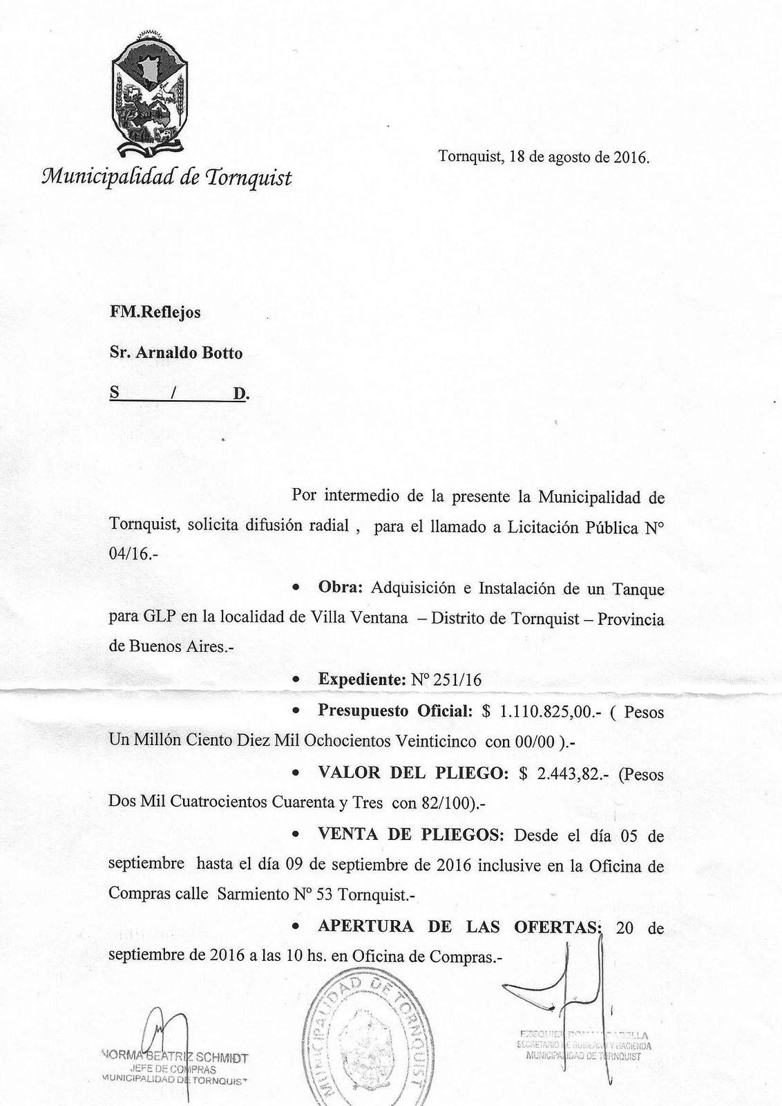 licitacion Villa Ventana
