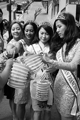 beauty queens, Moon Festival parade