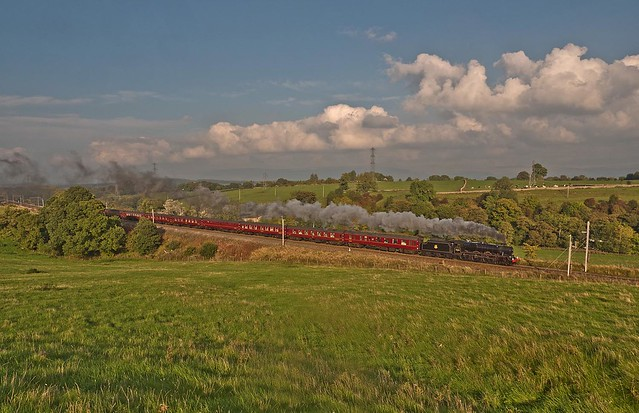 LMS Jubilee Class 6P 4-6-0 No 45690 Leander in charge of