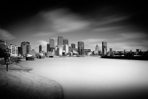Canary Wharf across the Lower Pool-