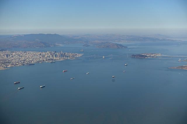 Downtown San Francisco with Bay Bridge