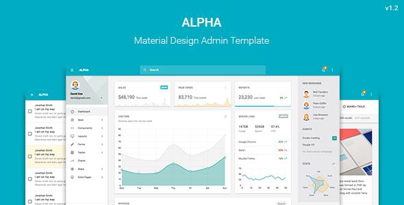 Alpha v1.2 - Material Design Admin Template