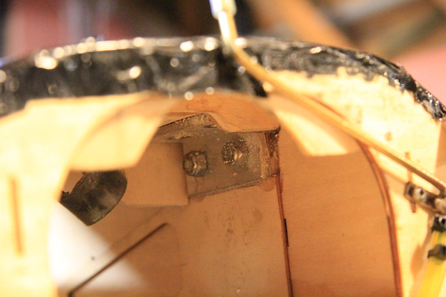 Aluminum bracket - starboard side