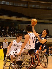 wheelchair sports(1.0), disabled sports(1.0), sports(1.0), basketball moves(1.0), team sport(1.0), wheelchair basketball(1.0), basketball player(1.0), ball game(1.0), basketball(1.0), athlete(1.0),