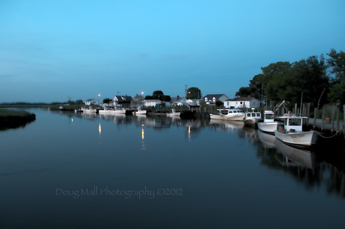 blue sunset reflection water boats harbor delaware hdr odt leipsic nikond5000 dougmall