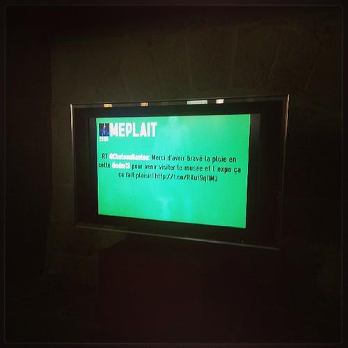 Fiston était fiere de voir le tweet et la tête de maman au @ChateauNantes #ndm13 ps: c'est pas se tweet je précise ^^
