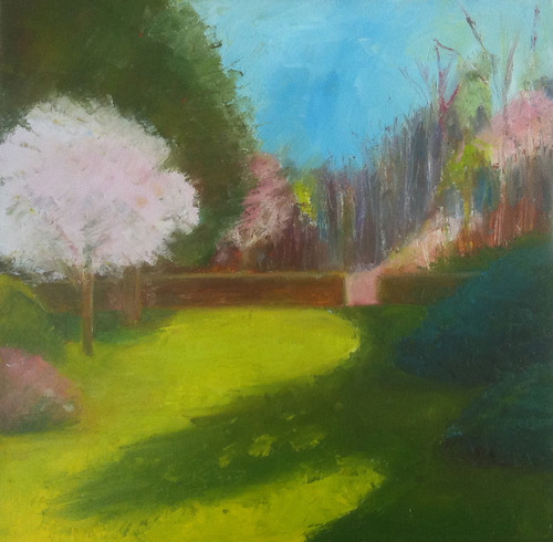 First of May at Long Hill (Oil Bar Painting as of May 21, 2013) by randubnick