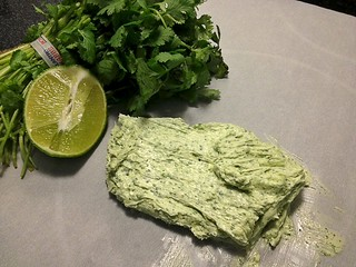 Cilantro lime butter